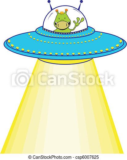 cartoon alien - csp6007625
