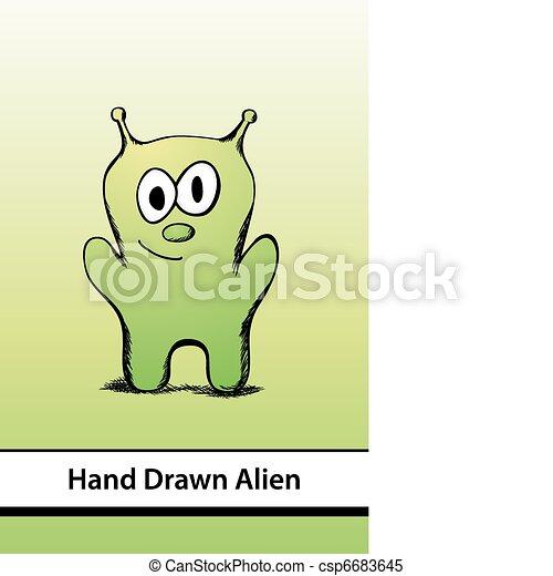 Cartoon Alien - csp6683645