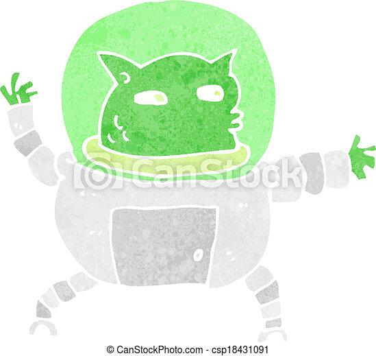 cartoon alien - csp18431091