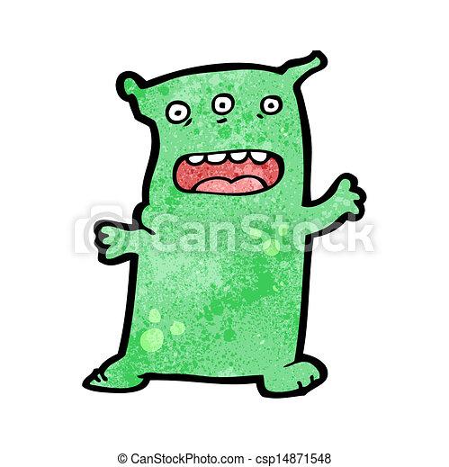 cartoon alien - csp14871548