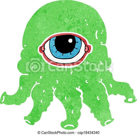 cartoon alien head - csp18434340