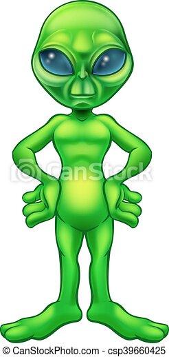 Cartoon Alien - csp39660425