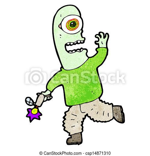 cartoon alien - csp14871310