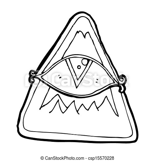 Cartoon All Seeing Eye Symbol Clip Art Search Illustration