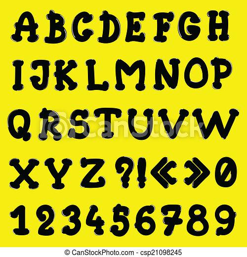 cartoon alphabet - csp21098245