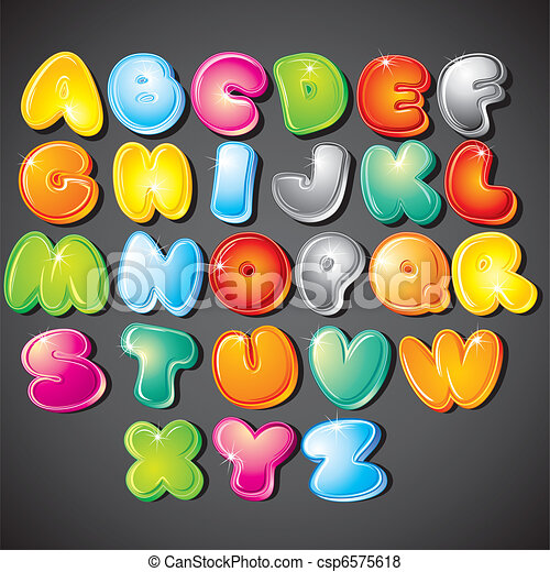Cartoon Alphabet - csp6575618