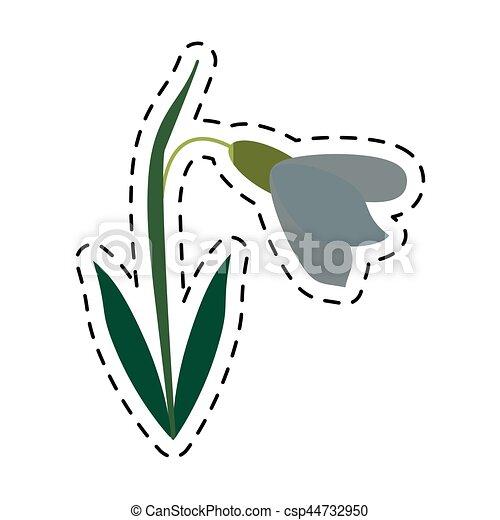 cartoon amaryllis flower decorative icon - csp44732950
