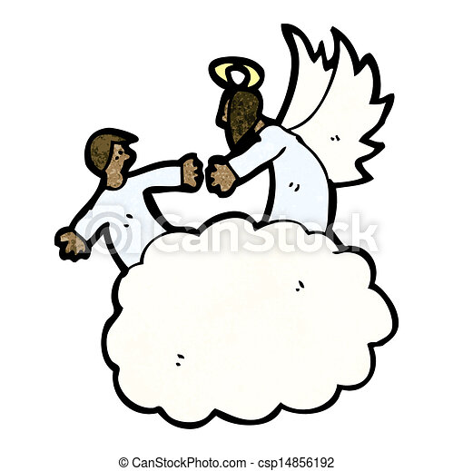 cartoon angel in heaven eps vectors search clip art illustration rh canstockphoto com heaven's gate clipart free