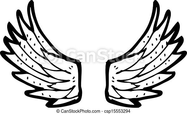 Cartoon angel wings csp15553294