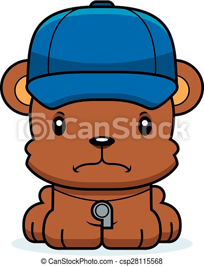 Cartoon Angry Coach Bear - csp28115568
