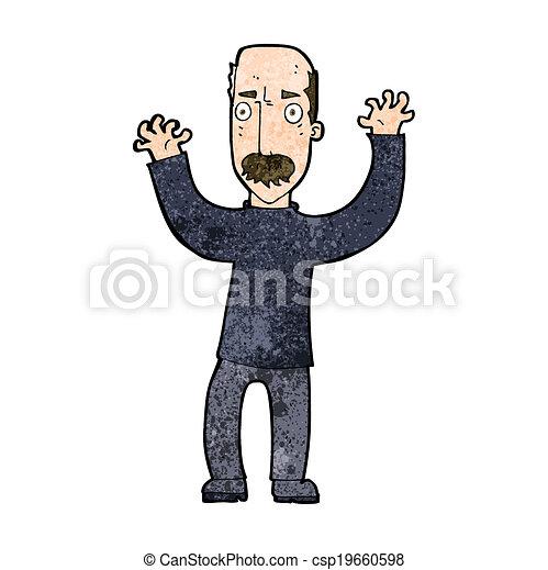 cartoon angry dad - csp19660598