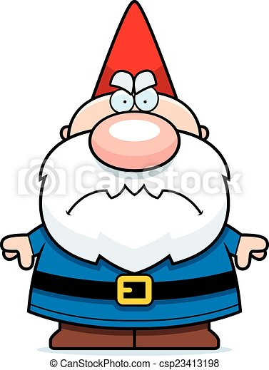 cartoon angry gnome a cartoon illustration of a gnome eps rh canstockphoto com garden gnome clipart gnome clipart black and white