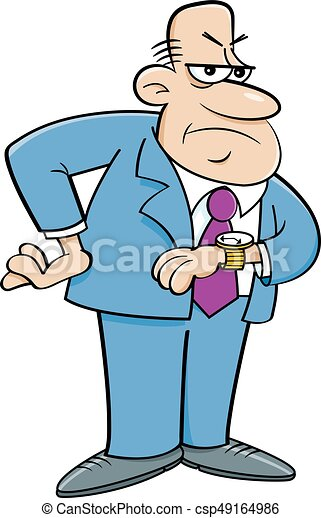 cartoon angry man looking at his watch cartoon illustration rh canstockphoto com angry man clipart free angry man clipart free