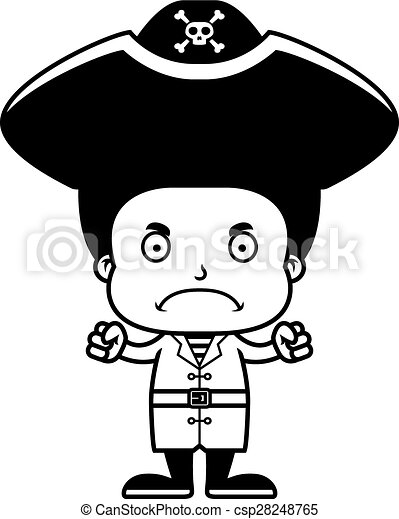 cartoon angry pirate boy a cartoon pirate boy looking angry Confused Clip Art cartoon angry pirate boy csp28248765