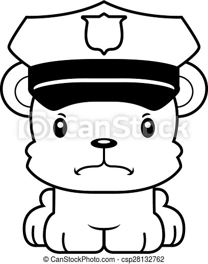 cartoon angry police officer bear a cartoon police officer clip rh canstockphoto com  coop clipart black and white