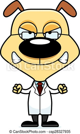 cartoon angry scientist puppy a cartoon scientist puppy vectors rh canstockphoto com Excited Clip Art Upset Clip Art