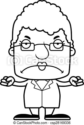 cartoon angry scientist woman a cartoon scientist woman vectors rh canstockphoto co uk Frustrated Clip Art Confused Clip Art