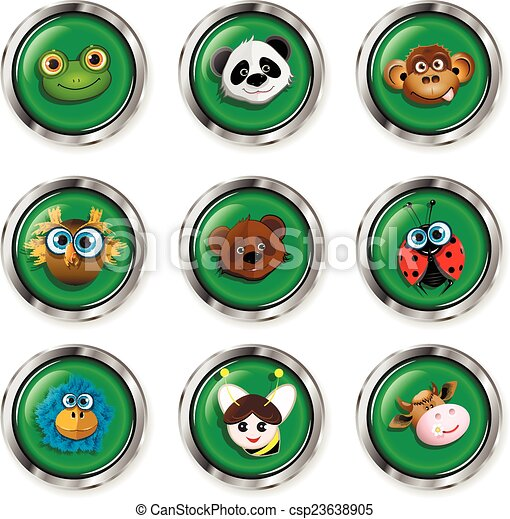 Cartoon animal icons - csp23638905