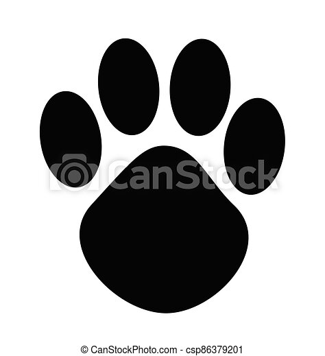cartoon animal paw print vector. | canstock  can stock photo