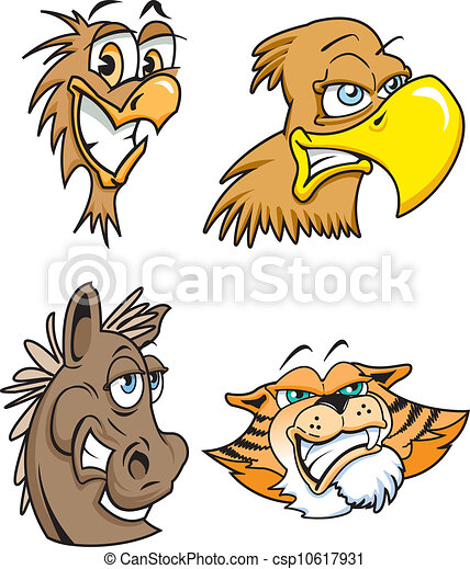 Cartoon Animals - csp10617931