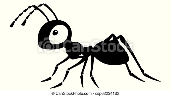 Cartoon black ants - photo#40
