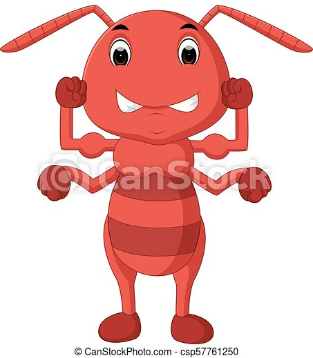 cartoon ant strong - csp57761250