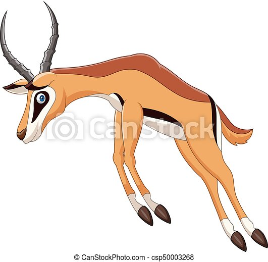 vector illustration of cartoon antelope jumping clip art vector rh canstockphoto com antelope running clipart antelope running clipart