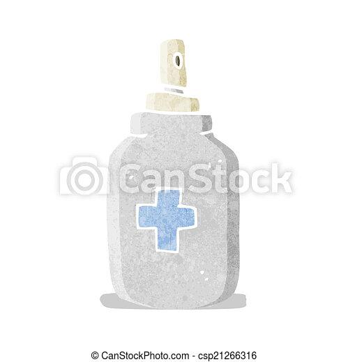 cartoon antiseptic spray - csp21266316
