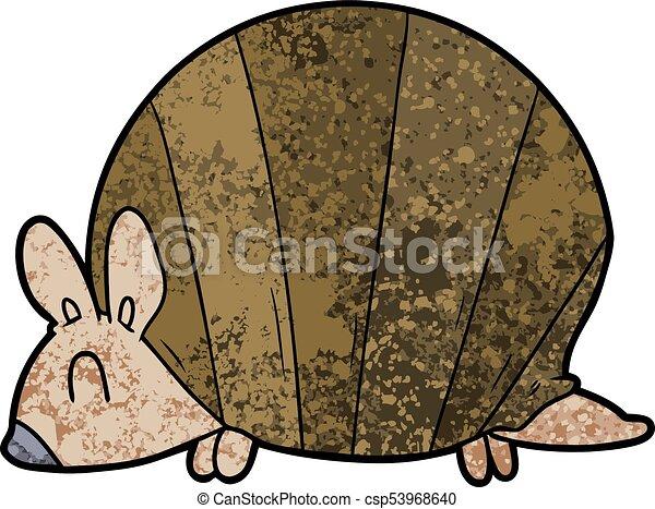 cartoon armadillo - csp53968640