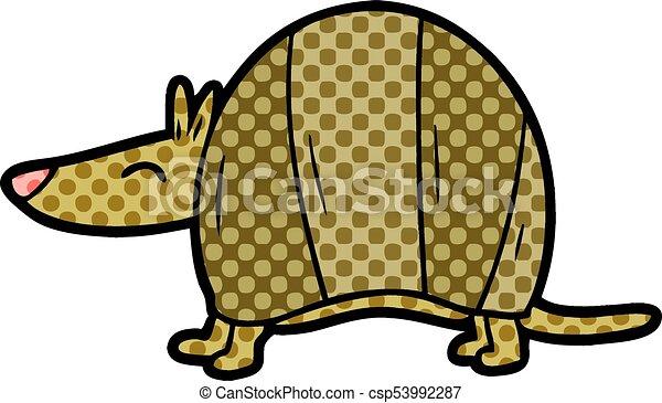 cartoon armadillo - csp53992287