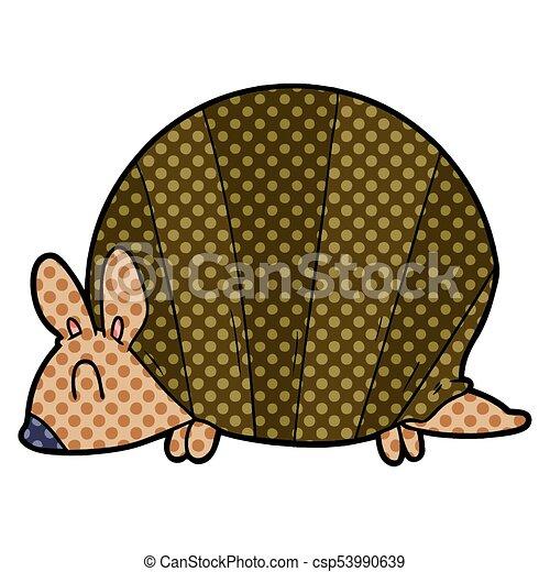 cartoon armadillo - csp53990639