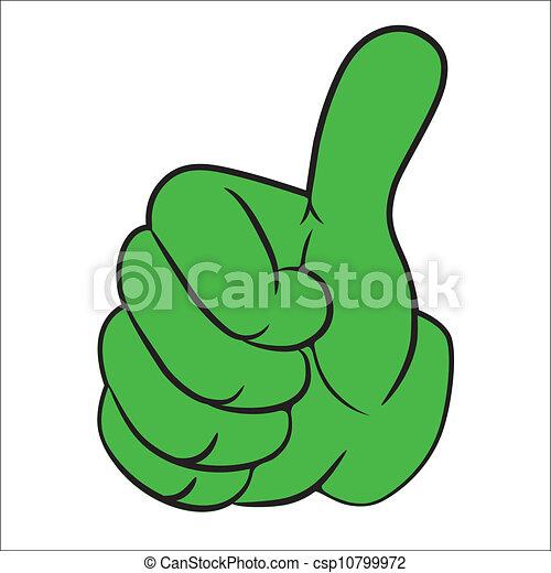 Cartoon art vector hand gesture - csp10799972