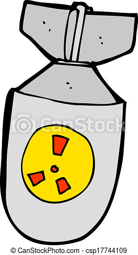 cartoon atom bomb rh canstockphoto com atomic bomb clipart WW2 Atomic Bomb Cartoon