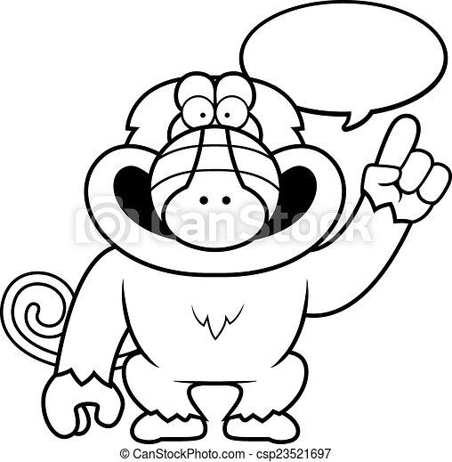 Cartoon Baboon Talking A Cartoon Illustration Of A Baboon Talking