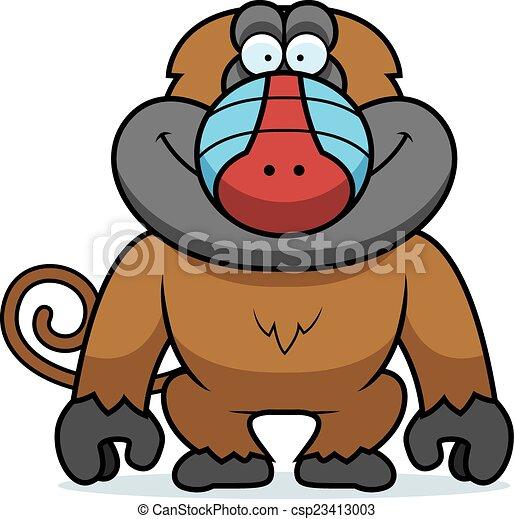 Cartoon Baboon - csp23413003