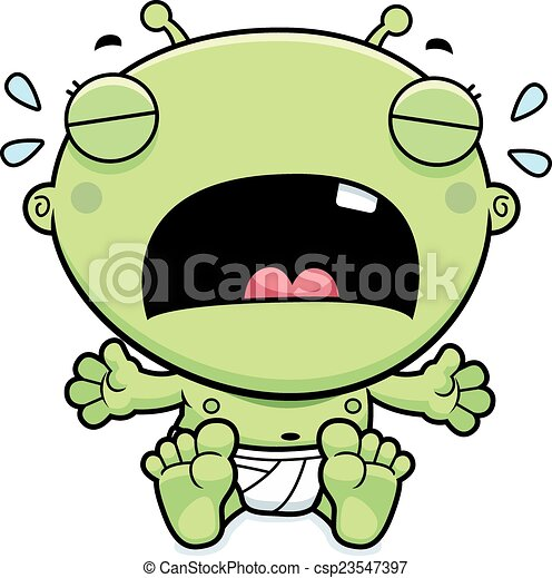 cartoon baby alien crying a cartoon illustration of a baby eps rh canstockphoto com babies crying clip art crying baby cartoon clipart