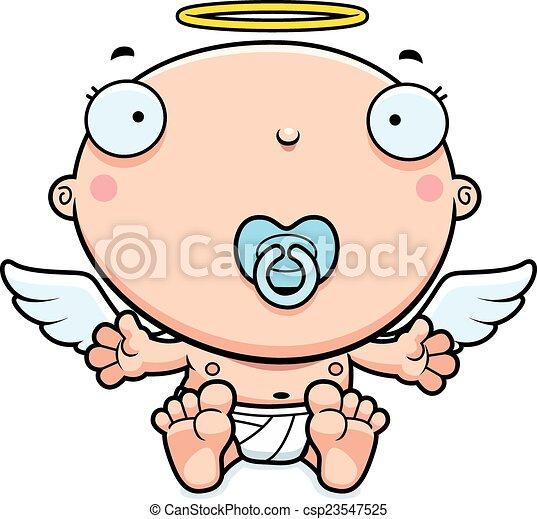 cartoon baby angel pacifier a cartoon illustration of a baby angel rh canstockphoto com cartoon pacifier image cartoon pacifier image