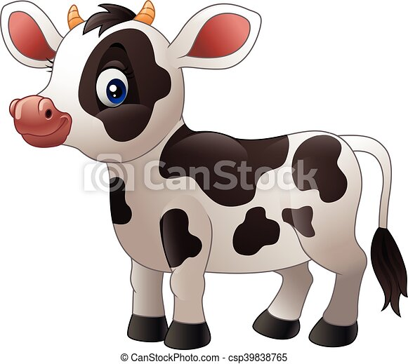 illustration of cartoon baby cow rh canstockphoto com Pink Cow Clip Art Baby Pig Clip Art