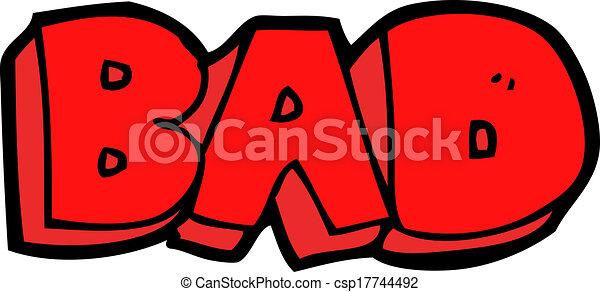cartoon bad sign