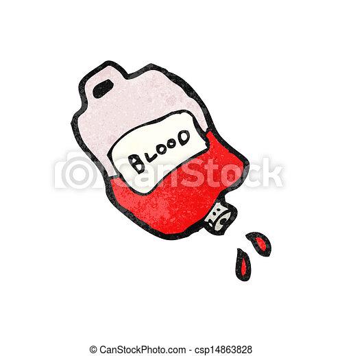 cartoon bag of blood - csp14863828