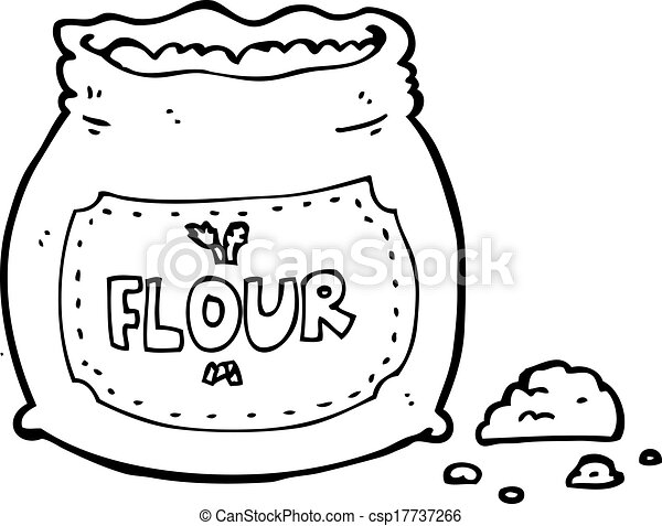 cartoon bag of flour - csp17737266