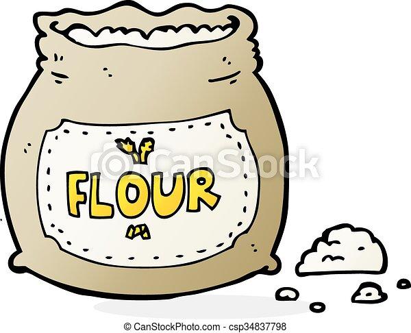 cartoon bag of flour - csp34837798