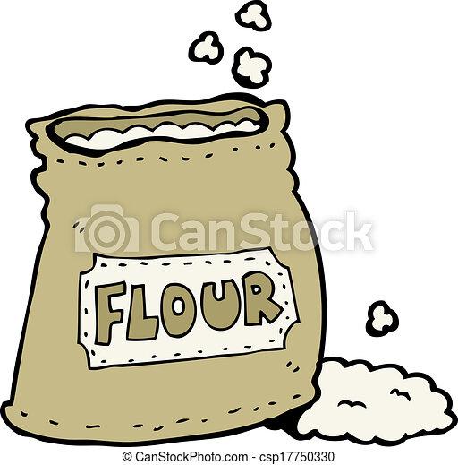 cartoon bag of flour - csp17750330