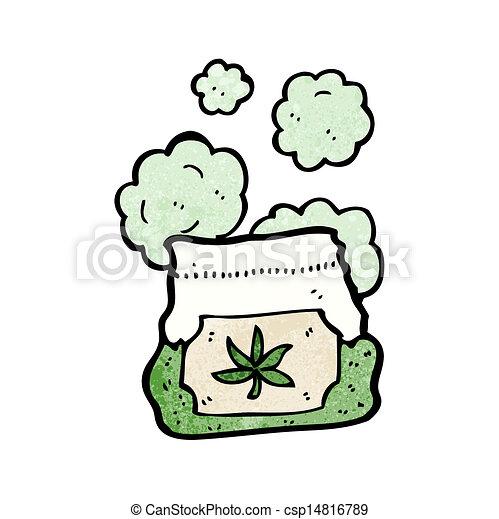 cartoon bag of weed - csp14816789