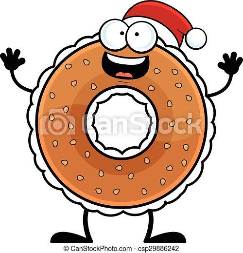 cartoon bagel santa hat cartoon illustration of a bagel eps rh canstockphoto ca bagel graphics clipart bagel clip art free