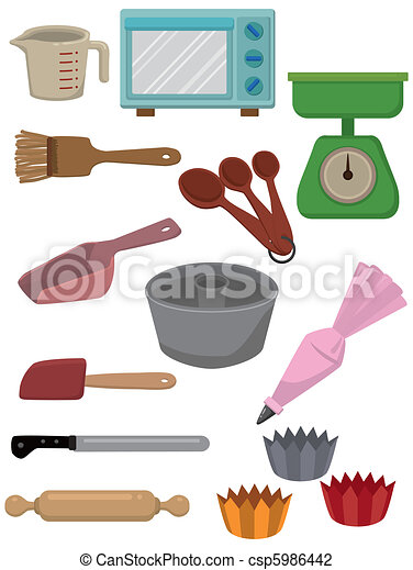 cartoon Bake tool icon  - csp5986442