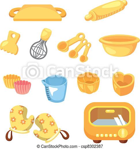 cartoon Bake tool icon - csp8302387