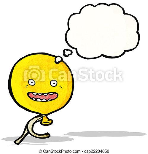 cartoon balloon with face - csp22204050