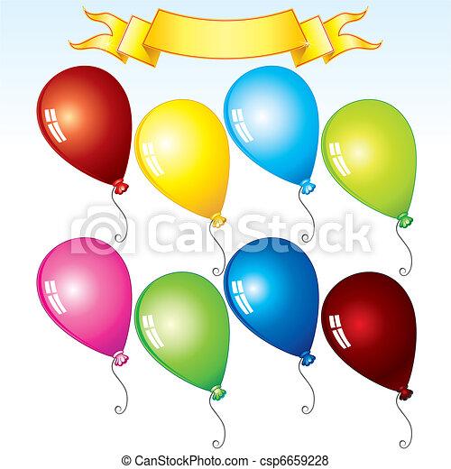 Cartoon balloons - csp6659228