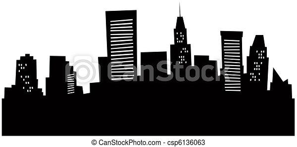 Cartoon Baltimore Skyline - csp6136063